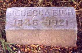 EICH, REBECCA - Stark County, Ohio | REBECCA EICH - Ohio Gravestone Photos