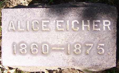 EICHER, ALICE - Stark County, Ohio | ALICE EICHER - Ohio Gravestone Photos