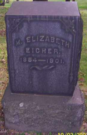 EICHER, M. ELIZABETH - Stark County, Ohio | M. ELIZABETH EICHER - Ohio Gravestone Photos