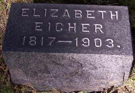 EIGHER, ELIZABETH - Stark County, Ohio | ELIZABETH EIGHER - Ohio Gravestone Photos