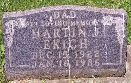 EKICH, MARTIN J. - Stark County, Ohio | MARTIN J. EKICH - Ohio Gravestone Photos