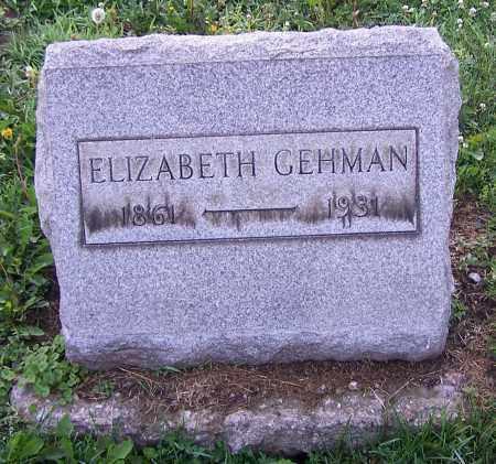 ELIZABETH, GEHMAN - Stark County, Ohio | GEHMAN ELIZABETH - Ohio Gravestone Photos