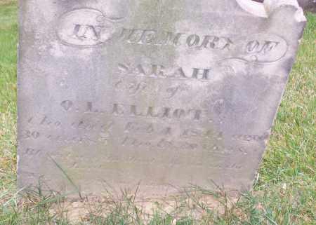 ELLIOT, SARAH - CLOSE VIEW - Stark County, Ohio | SARAH - CLOSE VIEW ELLIOT - Ohio Gravestone Photos