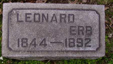 ERB, LEONARD - Stark County, Ohio | LEONARD ERB - Ohio Gravestone Photos