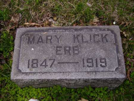 ERB, MARY KLICK - Stark County, Ohio | MARY KLICK ERB - Ohio Gravestone Photos