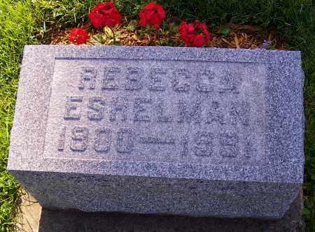ESHELMAN, REBECCA - Stark County, Ohio | REBECCA ESHELMAN - Ohio Gravestone Photos