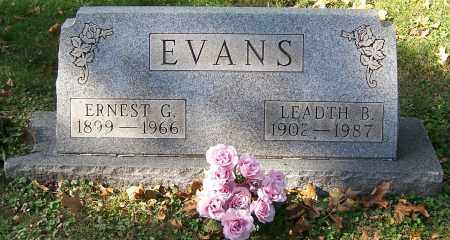 EVANS, LEADTH B - Stark County, Ohio | LEADTH B EVANS - Ohio Gravestone Photos