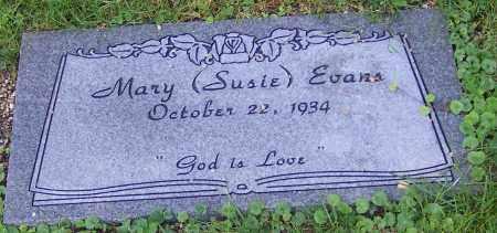 EVANS, MARY (SUSIE) - Stark County, Ohio | MARY (SUSIE) EVANS - Ohio Gravestone Photos