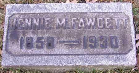 FAWCETT, JENNIE M. - Stark County, Ohio | JENNIE M. FAWCETT - Ohio Gravestone Photos
