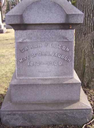 FELTON, SARAH - Stark County, Ohio | SARAH FELTON - Ohio Gravestone Photos
