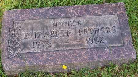 FETHERS, ELIZABETH - Stark County, Ohio | ELIZABETH FETHERS - Ohio Gravestone Photos