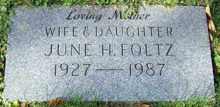 FOLTZ, JUNE H. - Stark County, Ohio | JUNE H. FOLTZ - Ohio Gravestone Photos