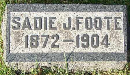 FOOTE, SADIE J. - Stark County, Ohio | SADIE J. FOOTE - Ohio Gravestone Photos