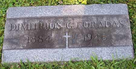 FORADAS, DIMITRIOS G. - Stark County, Ohio | DIMITRIOS G. FORADAS - Ohio Gravestone Photos