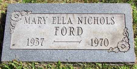 FORD, MARY ELLA NICHOLAS - Stark County, Ohio | MARY ELLA NICHOLAS FORD - Ohio Gravestone Photos