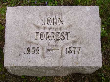 FORREST, JOHN - Stark County, Ohio | JOHN FORREST - Ohio Gravestone Photos