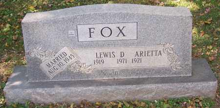 FOX, LEWIS D. - Stark County, Ohio | LEWIS D. FOX - Ohio Gravestone Photos