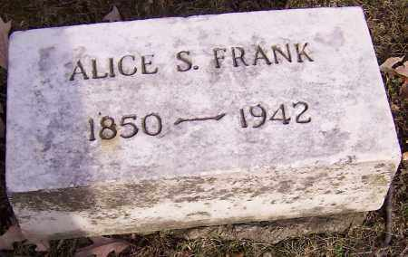 FRANK, ALICE S. - Stark County, Ohio | ALICE S. FRANK - Ohio Gravestone Photos
