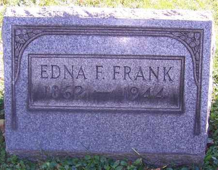 FRANK, EDNA F. - Stark County, Ohio | EDNA F. FRANK - Ohio Gravestone Photos