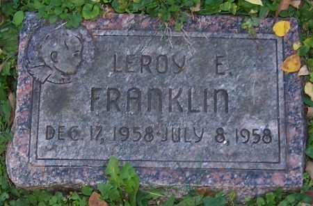 FRANKLIN, LEROY E. - Stark County, Ohio | LEROY E. FRANKLIN - Ohio Gravestone Photos