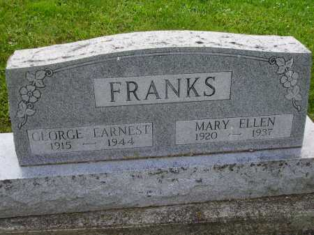 FRANKS, MARY ELLEN - Stark County, Ohio | MARY ELLEN FRANKS - Ohio Gravestone Photos