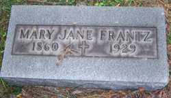 FRANTZ, MARY JANE - Stark County, Ohio | MARY JANE FRANTZ - Ohio Gravestone Photos