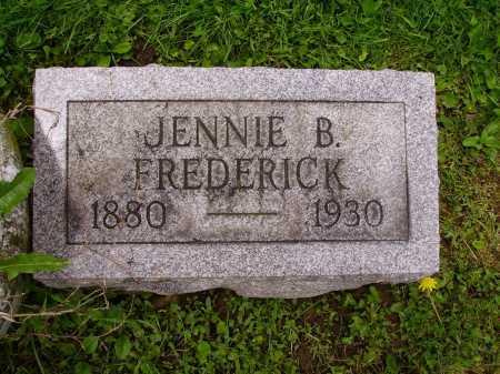 FREDERICK, JENNIE B. - Stark County, Ohio | JENNIE B. FREDERICK - Ohio Gravestone Photos