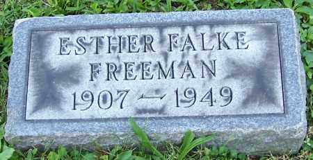 FREEMAN, ESTHER FALKE - Stark County, Ohio | ESTHER FALKE FREEMAN - Ohio Gravestone Photos