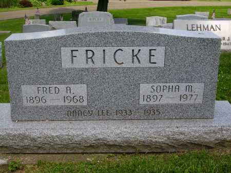 FRICKE, NANCY LEE - Stark County, Ohio | NANCY LEE FRICKE - Ohio Gravestone Photos