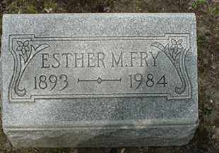 FRY, ESTHER M. - Stark County, Ohio | ESTHER M. FRY - Ohio Gravestone Photos