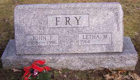 FRY, JOHN F. - Stark County, Ohio | JOHN F. FRY - Ohio Gravestone Photos
