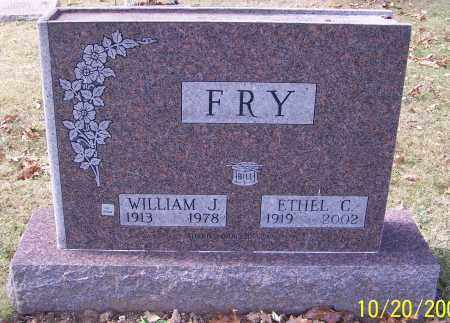 FRY, WILLIAM J. - Stark County, Ohio | WILLIAM J. FRY - Ohio Gravestone Photos
