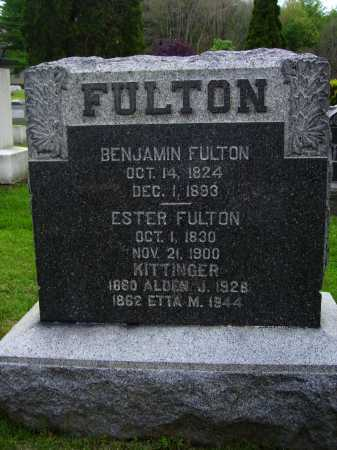 FULTON KITTINGER, ETTA M. - Stark County, Ohio | ETTA M. FULTON KITTINGER - Ohio Gravestone Photos