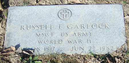 GARLOCK, RUSSELL E.    (MIL) - Stark County, Ohio | RUSSELL E.    (MIL) GARLOCK - Ohio Gravestone Photos