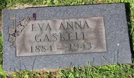 GASKELL, EVA ANNA - Stark County, Ohio | EVA ANNA GASKELL - Ohio Gravestone Photos