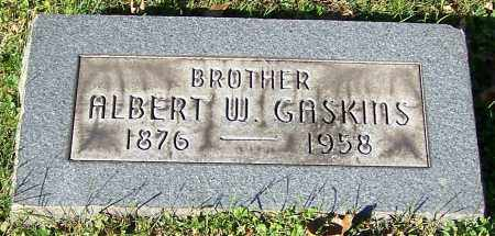 GASKINS, ALBERT W. - Stark County, Ohio | ALBERT W. GASKINS - Ohio Gravestone Photos