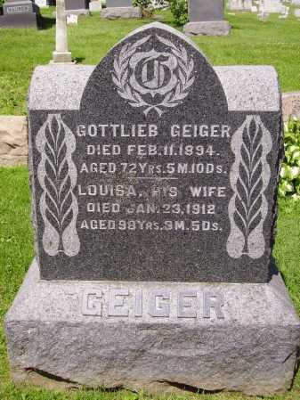 GEIGER, GOTTLIEB - Stark County, Ohio | GOTTLIEB GEIGER - Ohio Gravestone Photos