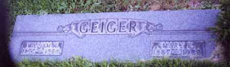 GEIGER, WILLIAM H. - Stark County, Ohio | WILLIAM H. GEIGER - Ohio Gravestone Photos