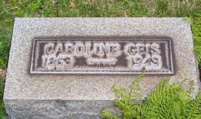 GEIS, CAROLINE - Stark County, Ohio | CAROLINE GEIS - Ohio Gravestone Photos