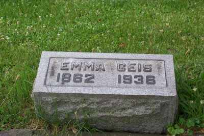 SANDS? GEIS, EMMA - Stark County, Ohio | EMMA SANDS? GEIS - Ohio Gravestone Photos