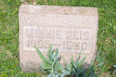 GEIS, MINNIE - Stark County, Ohio | MINNIE GEIS - Ohio Gravestone Photos