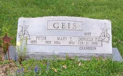 GEIS, MARY E. - Stark County, Ohio | MARY E. GEIS - Ohio Gravestone Photos