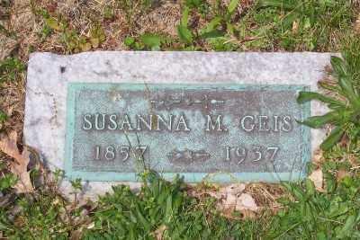 GEIS, SUSANNA M. - Stark County, Ohio | SUSANNA M. GEIS - Ohio Gravestone Photos