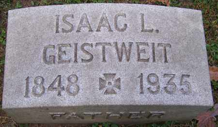 GEISTWEIT, ISAAC L. - Stark County, Ohio | ISAAC L. GEISTWEIT - Ohio Gravestone Photos