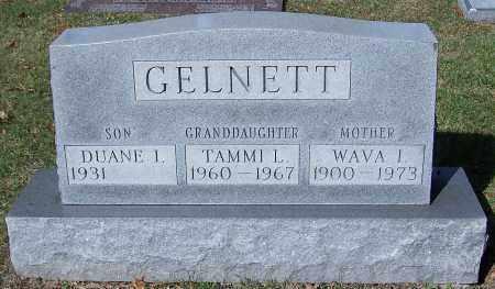 GELNETT, WAVA I. - Stark County, Ohio | WAVA I. GELNETT - Ohio Gravestone Photos