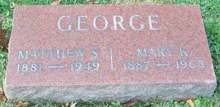 GEORGE, MARY K. - Stark County, Ohio | MARY K. GEORGE - Ohio Gravestone Photos