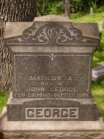 WAGNER GEORGE, MATILDA A. - Stark County, Ohio | MATILDA A. WAGNER GEORGE - Ohio Gravestone Photos