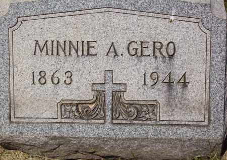 BOSSINGER GERO, MINNIE A. - Stark County, Ohio | MINNIE A. BOSSINGER GERO - Ohio Gravestone Photos