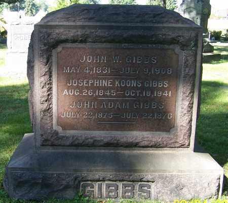 GIBBS, JOHN ADAMS - Stark County, Ohio | JOHN ADAMS GIBBS - Ohio Gravestone Photos