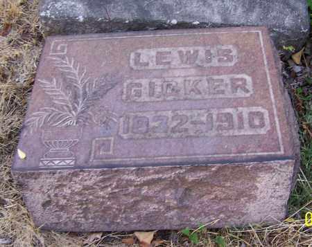 GICKER, LEWIS - Stark County, Ohio   LEWIS GICKER - Ohio Gravestone Photos